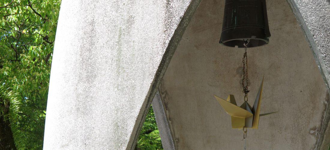 Grulla de bronce, Monumento a la Paz de los Niños. Hiroshima.