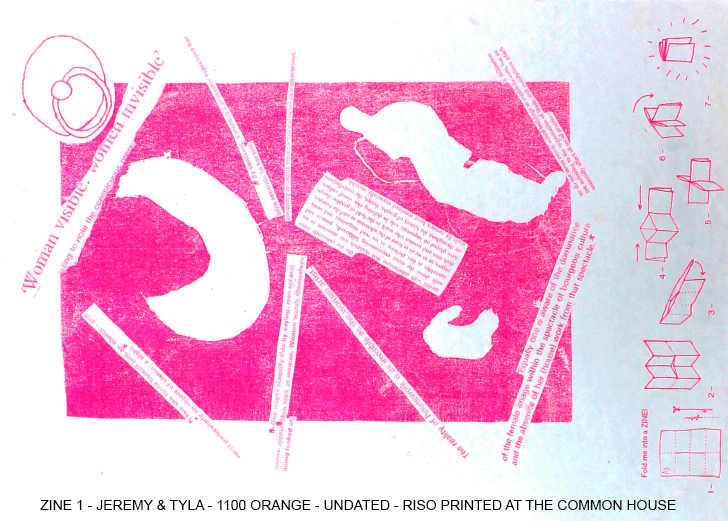 Common House Riso print ZINE