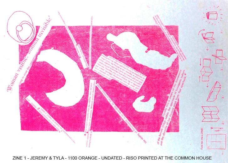 Common House Riso print ZINE